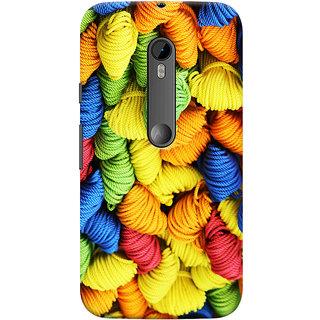 Oyehoye Colourpul Pattern Style Printed Designer Back Cover For Motorola Moto G3 Mobile Phone - Matte Finish Hard Plastic Slim Case