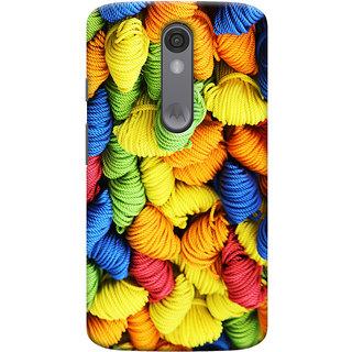 Oyehoye Colourpul Pattern Style Printed Designer Back Cover For Motorola Moto X Force Mobile Phone - Matte Finish Hard Plastic Slim Case