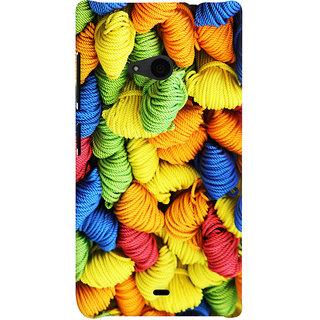 Oyehoye Colourpul Pattern Style Printed Designer Back Cover For Microsoft Lumia 535 / Dual Sim Mobile Phone - Matte Finish Hard Plastic Slim Case
