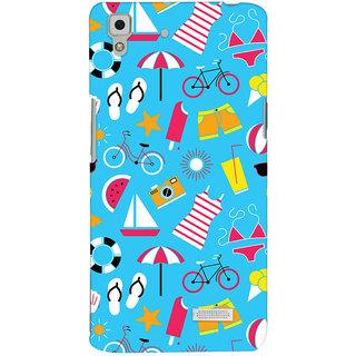 Oyehoye Beach Pattern Style Printed Designer Back Cover For Oppo R7 Mobile Phone - Matte Finish Hard Plastic Slim Case
