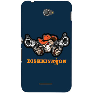 Oyehoye Dishkiyaaon Quirky Printed Designer Back Cover For Sony Xperia E4 Mobile Phone - Matte Finish Hard Plastic Slim Case