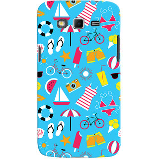 Oyehoye Beach Pattern Style Printed Designer Back Cover For Samsung Galaxy Grand 2 G7106 Mobile Phone - Matte Finish Hard Plastic Slim Case