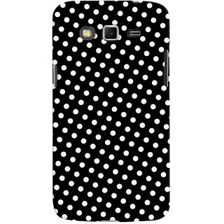 Oyehoye Black and White Polka Dots Pattern Style Printed Designer Back Cover For Samsung Galaxy Grand 2 G7106 Mobile Phone - Matte Finish Hard Plastic Slim Case