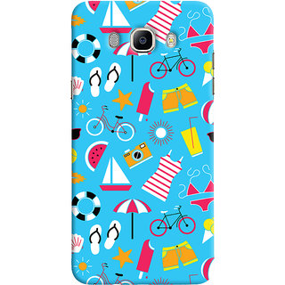 Oyehoye Beach Pattern Style Printed Designer Back Cover For Samsung Galaxy J5 (2016) Mobile Phone - Matte Finish Hard Plastic Slim Case