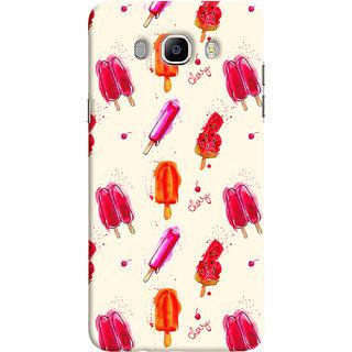 Oyehoye Ice Cream Pattern Style Printed Designer Back Cover For Samsung Galaxy J7 (2016) Mobile Phone - Matte Finish Hard Plastic Slim Case