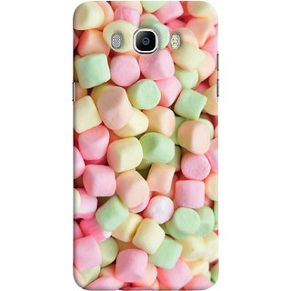 Oyehoye Sugar Candy Pattern Style Printed Designer Back Cover For Samsung Galaxy J7 (2016) Mobile Phone - Matte Finish Hard Plastic Slim Case