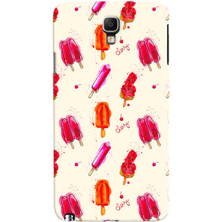 Oyehoye Ice Cream Pattern Style Printed Designer Back Cover For Galaxy Note 3 Neo Mobile Phone - Matte Finish Hard Plastic Slim Case