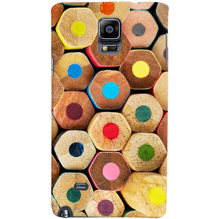 Oyehoye Colourful Pattern Style Printed Designer Back Cover For Samsung Galaxy Note 4 Mobile Phone - Matte Finish Hard Plastic Slim Case