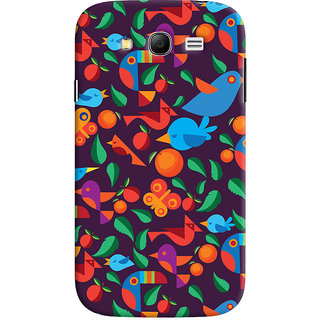 Oyehoye Birds Pattern Style Printed Designer Back Cover For Samsung Galaxy Grand Neo Plus Mobile Phone - Matte Finish Hard Plastic Slim Case