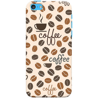 Oyehoye Coffee Beans Pattern Style Printed Designer Back Cover For Apple iPhone 5S Mobile Phone - Matte Finish Hard Plastic Slim Case