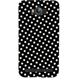 Oyehoye Black and White Polka Dots Pattern Style Printed Designer Back Cover For Asus Zenfone Max ZC550KL Mobile Phone - Matte Finish Hard Plastic Slim Case