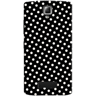 Oyehoye Black and White Polka Dots Pattern Style Printed Designer Back Cover For Lenovo A2010 Mobile Phone - Matte Finish Hard Plastic Slim Case
