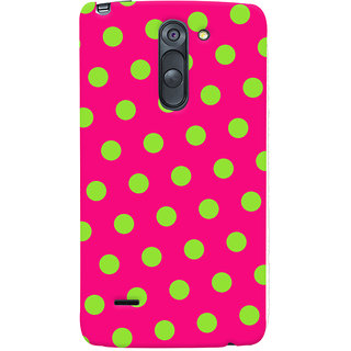 Oyehoye Polka Dots Pink Pattern Style Printed Designer Back Cover For LG G3 Stylus / Optimus G3 Stylus Mobile Phone - Matte Finish Hard Plastic Slim Case