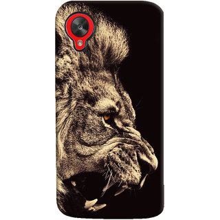 Oyehoye Lion The King Of Jungle Printed Designer Back Cover For LG Google Nexus 5 Mobile Phone - Matte Finish Hard Plastic Slim Case