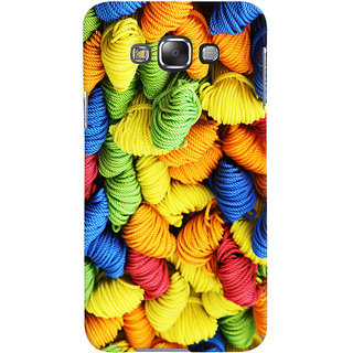Oyehoye Colourpul Pattern Style Printed Designer Back Cover For Samsung Galaxy E7 Mobile Phone - Matte Finish Hard Plastic Slim Case