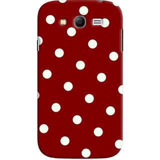Oyehoye Red And White Polka Dots Pattern Style Printed Designer Back Cover For Samsung Galaxy Grand Duos / i9082 Mobile Phone - Matte Finish Hard Plastic Slim Case