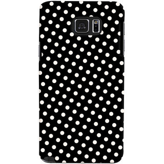 Oyehoye Black and White Polka Dots Pattern Style Printed Designer Back Cover For Samsung Galaxy Note 5 Dual Sim / Edge Plus Mobile Phone - Matte Finish Hard Plastic Slim Case