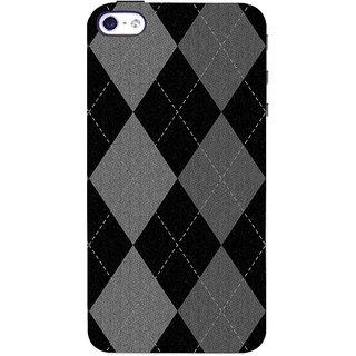 Oyehoye Argyle Pattern Style Printed Designer Back Cover For Apple iPhone 4S Mobile Phone - Matte Finish Hard Plastic Slim Case