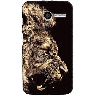 Oyehoye Lion The King Of Jungle Printed Designer Back Cover For Motorola Moto X Mobile Phone - Matte Finish Hard Plastic Slim Case