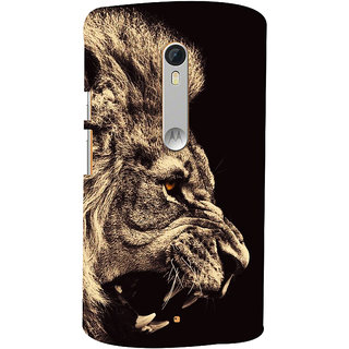 Oyehoye Lion The King Of Jungle Printed Designer Back Cover For Motorola Moto X Style Mobile Phone - Matte Finish Hard Plastic Slim Case