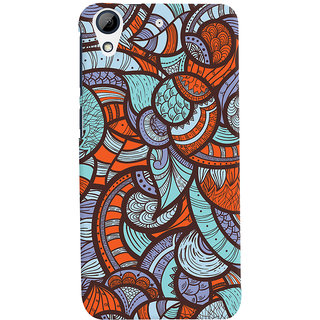 Oyehoye Colourful Abstract Art Printed Designer Back Cover For HTC Desire 626 / 626 G Plus Mobile Phone - Matte Finish Hard Plastic Slim Case