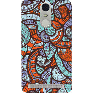 Oyehoye Colourful Abstract Art Printed Designer Back Cover For Lenovo K5 Note Mobile Phone - Matte Finish Hard Plastic Slim Case