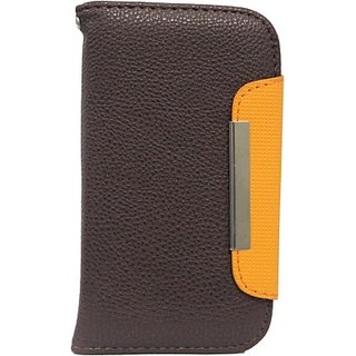 Jo Jo Flip Cover for Karbonn Titanium Octane (Brown, Orange)