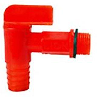 SHRUTI Red T Type Plastic Bib Cock (15mm-1/2) - 12 piece pack - 1341