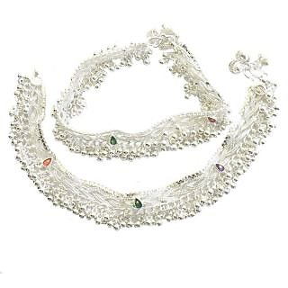 Silver Plated Silver Alloy Anklets For Women
