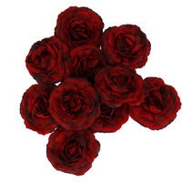 Imported 10 Artificial Silk Camellia Flower Heads Home Wedding Party Decor Wine Red