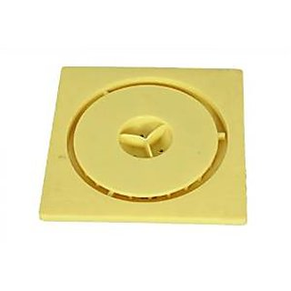 SHRUTI Abs Floor Trape  Gutter Jali for all types of water drain outlet. Comes with Free Filter Cup Set - 1264(yellow) 1272