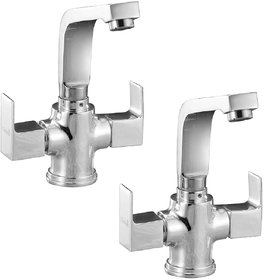 Oleanna Square Center Hole Basin Mixer S-09 (Pack of 2)