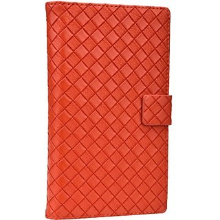 Jojo Flip Cover for iBall Andi 5-E7 (Orange)