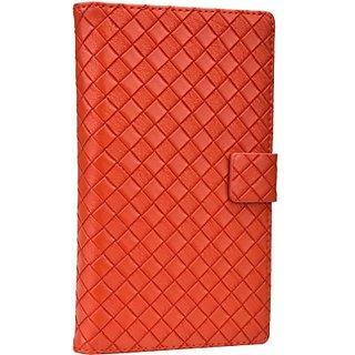 Jojo Flip Cover for Spice Coolpad Mi515 (Orange)