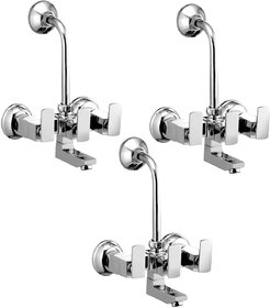 Oleanna KUBIX Wall Mixer Telephonic With L Bend K-14 (Pack of 3)