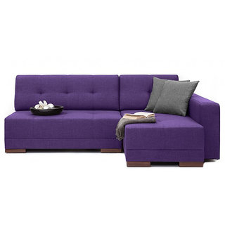 FabHomeDecor - Apollo L shape sofa in right side purple color