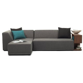 FabHomeDecor - Astoria L shape sofa left side in black leatherette