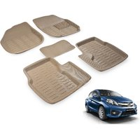 Autohub Custom made Beige 3D Car Foot Mat For Ford Fiesta Classic