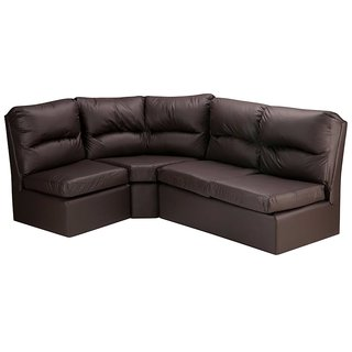 FabHomeDecor - Elzada Comfy Modular L Shape Sofa in Brown Colour -Brown