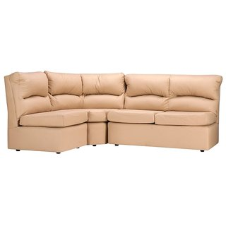 FabHomeDecor - Elzada Comfy Modular L Shape Sofa in Biege Colour -Biege