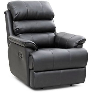 FabHomeDecor - Farina Single Seater High end Manual Recliner - Black