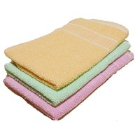 Weavers Villa Pack of 3 Premium Soft and 100 Fine Cotton Easy Wash Hand Towels / Napkins