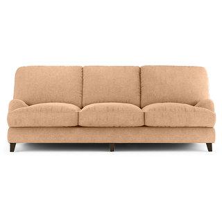 FabHomeDecor - Amelia 3 Seater Sofa biege