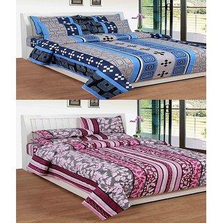 ShopSince Cotton Double Bedsheet Set of 2 - COTTONBS010011
