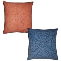 Zari Hand Embroidery Work Silk 5 Piece Cushion Cover Set Multicolor