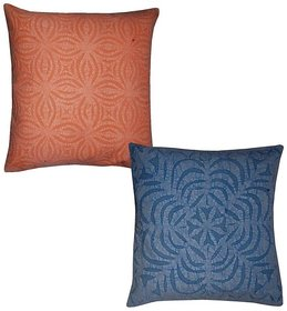 Zari Hand Embroidery Work Silk 5 Piece Cushion Cover Set Multicolor