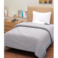 Handloomdaddy Pack Of 2 Single Bed Blue Dots Cotton Top Sheet-pctps01