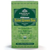 Organic India Tulsi Green 25 Tea Bags (Pack Of 5)