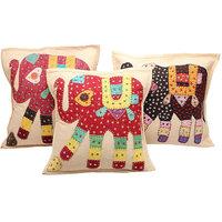 Cotton Extravagant Single Cushion Cover L 41 Cms, W 41 Cms SET OF 5 CUSHION