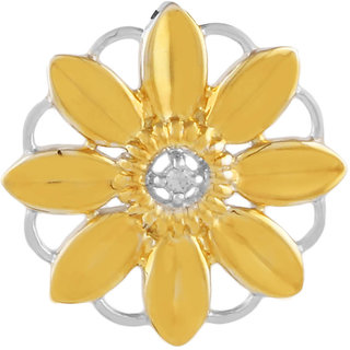 Allure presents Beautiful Flower Diamond 925 Sterling Silver Pendant